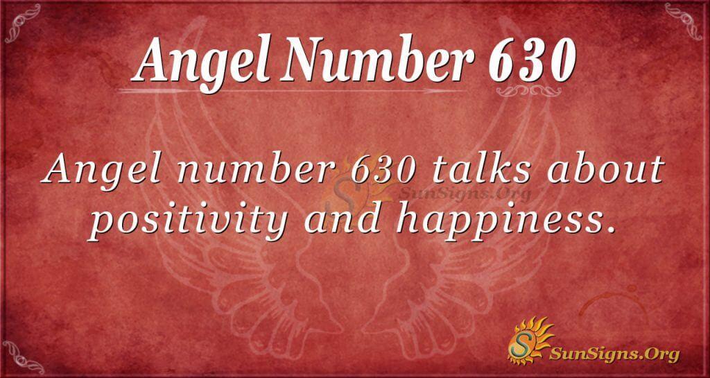 angel number 630