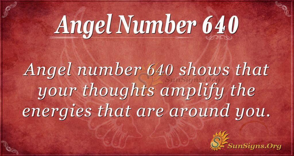 angel number 640