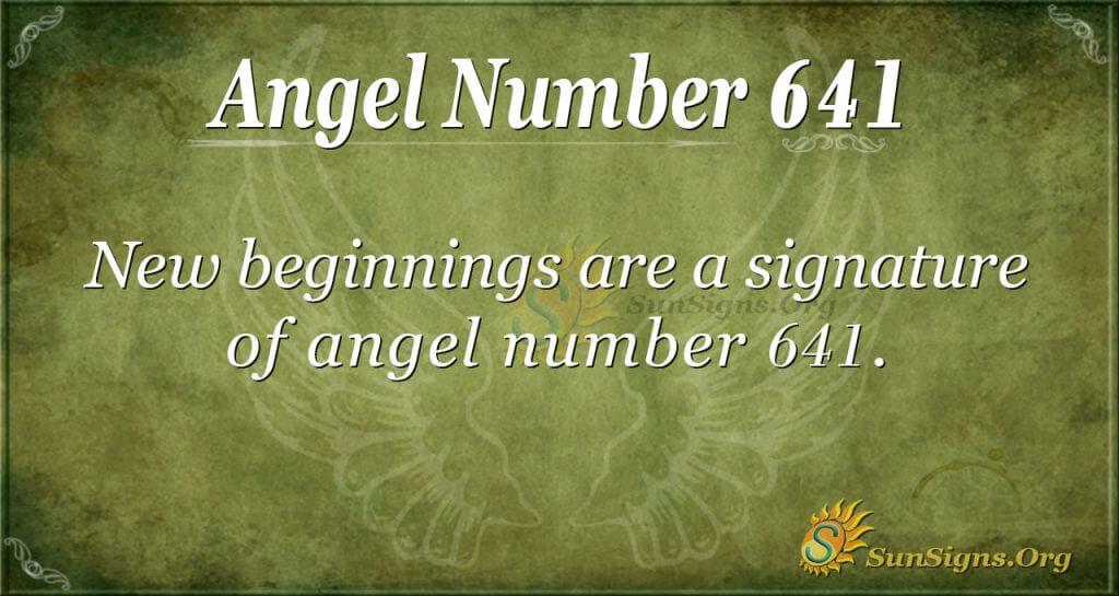 angel number 641