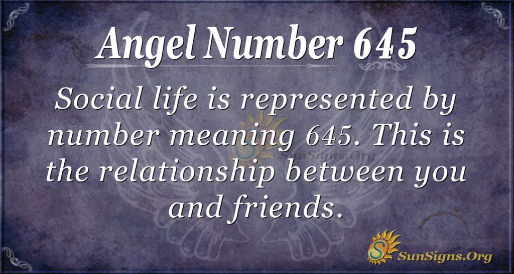 angel number 645