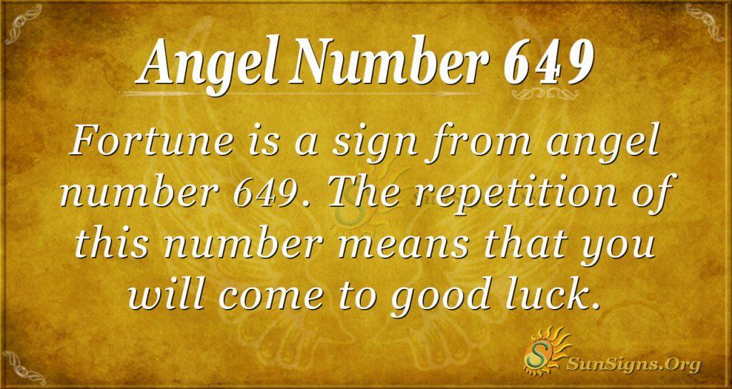 angel number 649