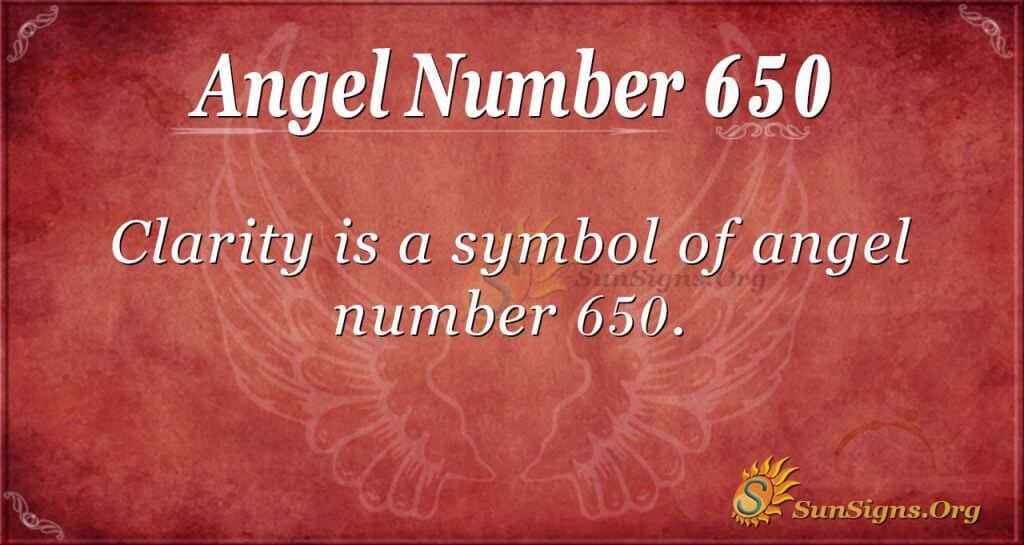 angel number 650