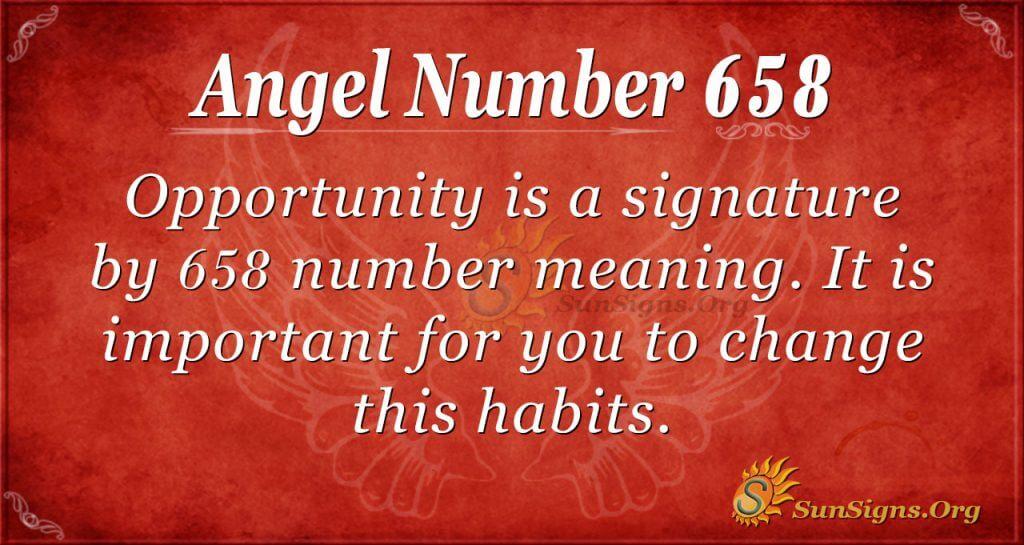 Angel Number 658