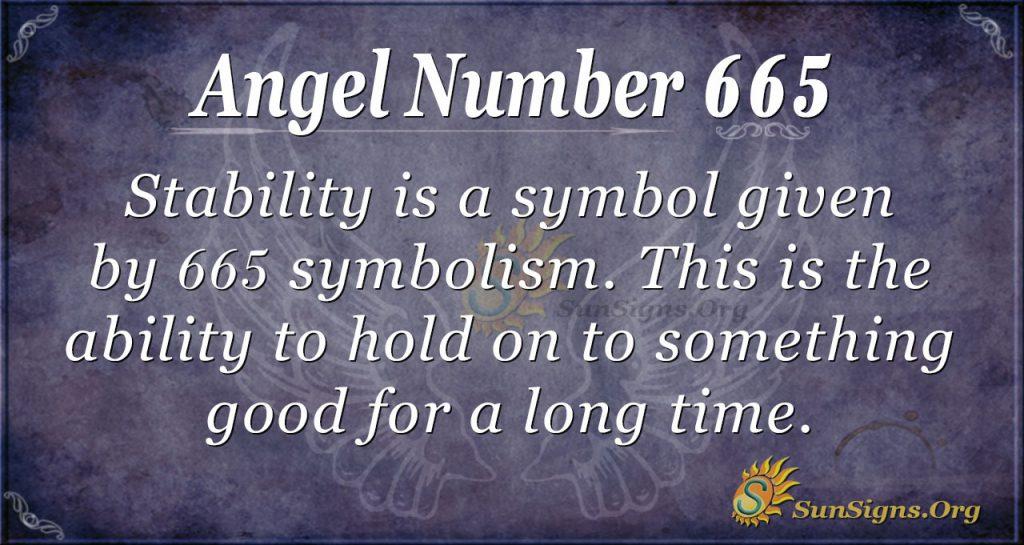 Angel Number 665