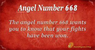 Angel Number 668