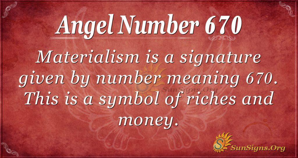 Angel Number 670