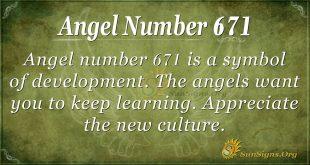 Angel Number 671