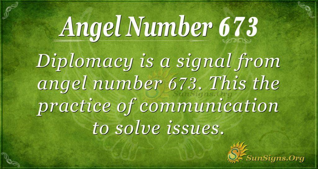 Angel Number 673