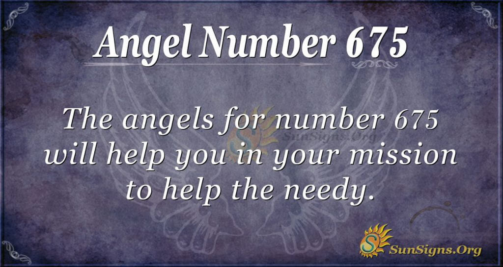 Angel Number 675
