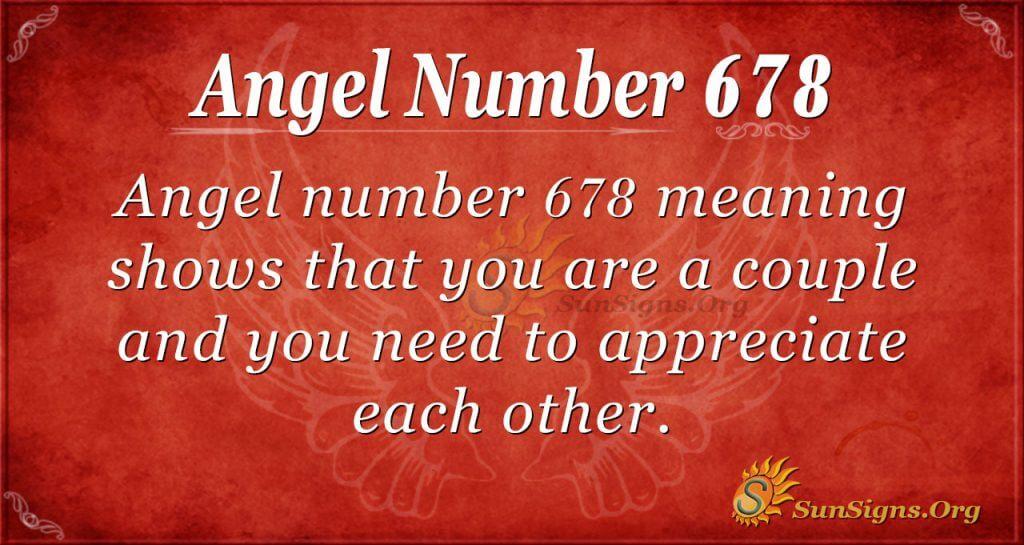 Angel Number 678