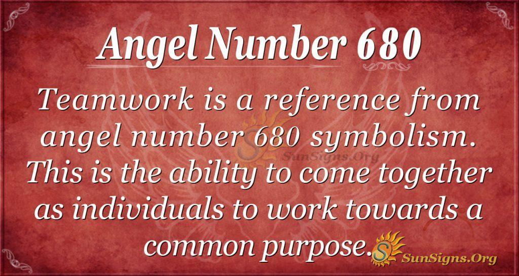 Angel Number 680