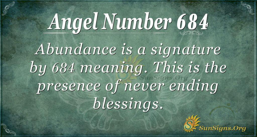 Angel Number 684