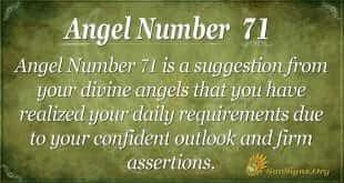 Angel Number 71
