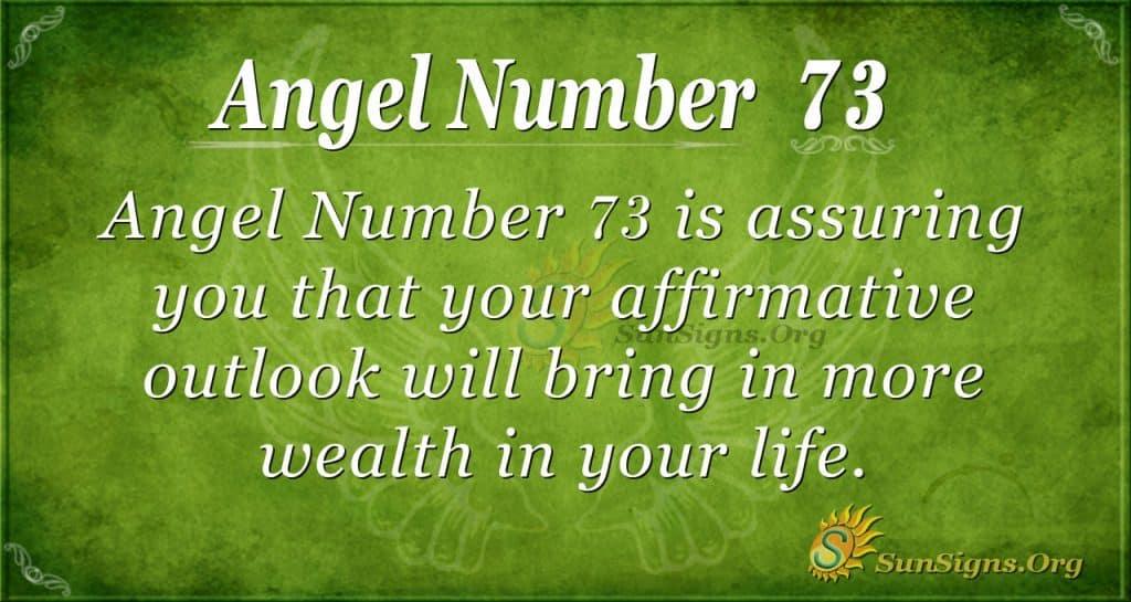 Angel Number 73