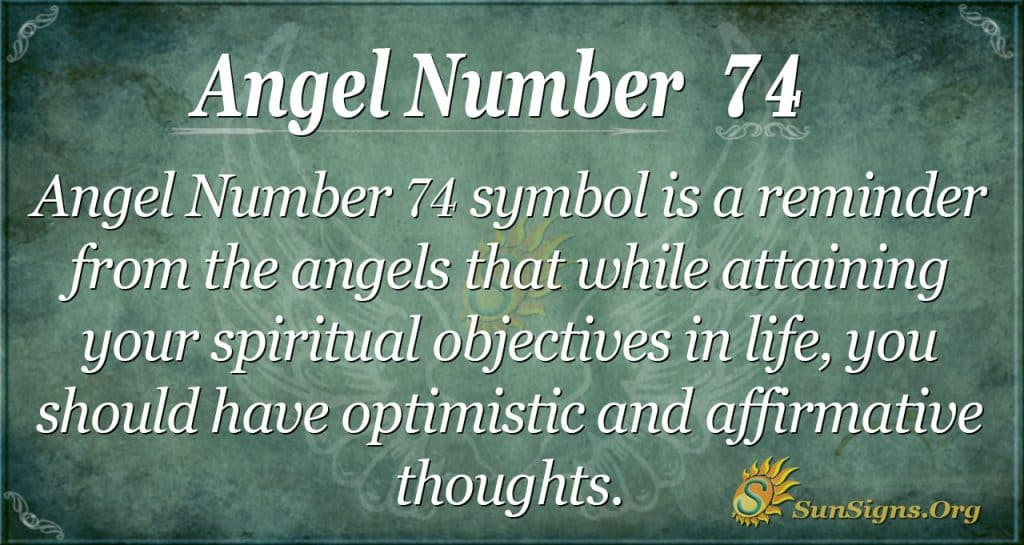 Angel Number 74
