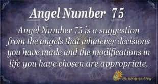 Angel Number 75