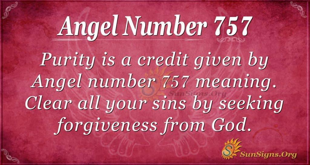 Angel Number 757