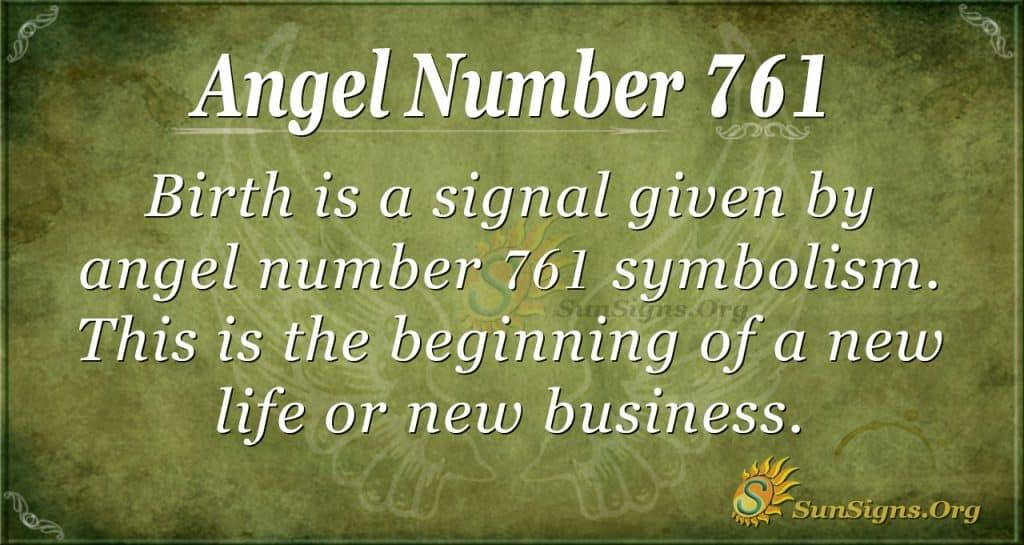 Angel Number 761