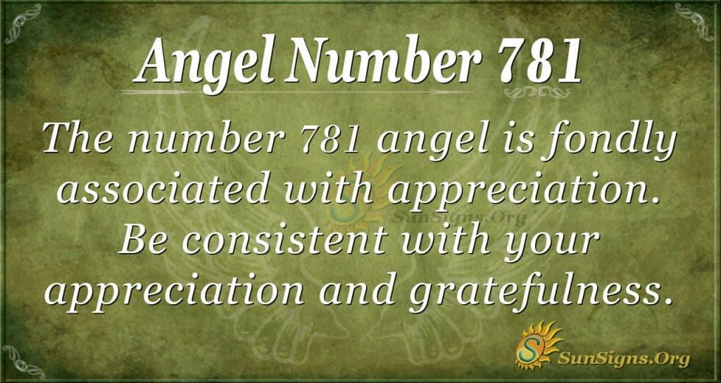 Angel Number 781