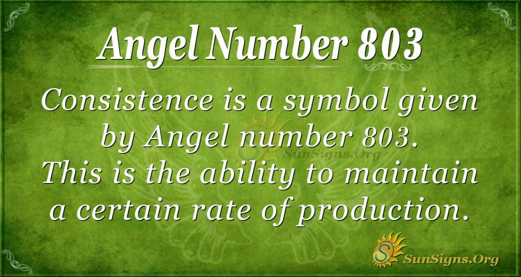 angel number 803