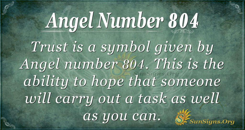 angel number 804