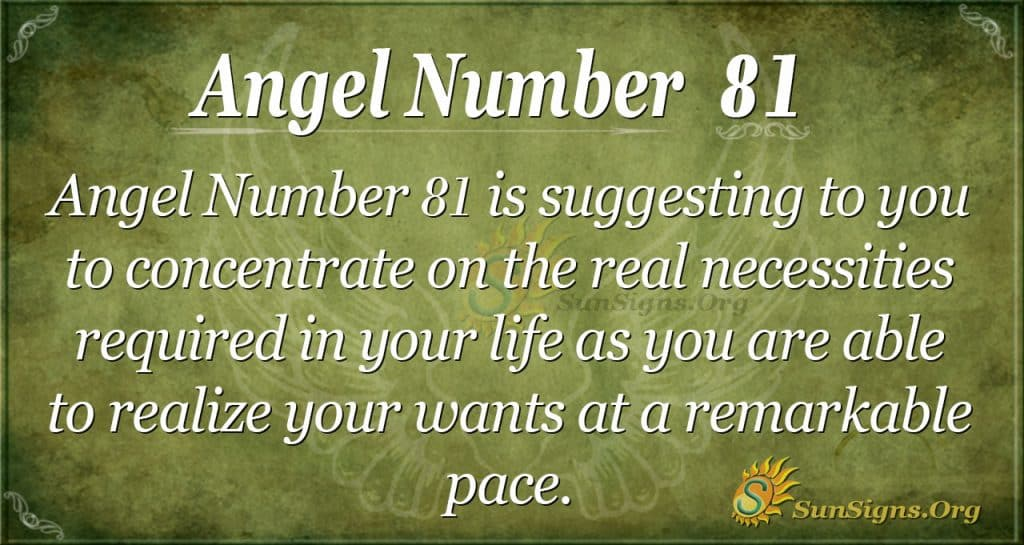 Angel Number 81