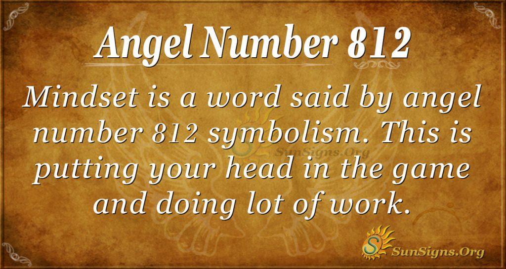 angel number 812