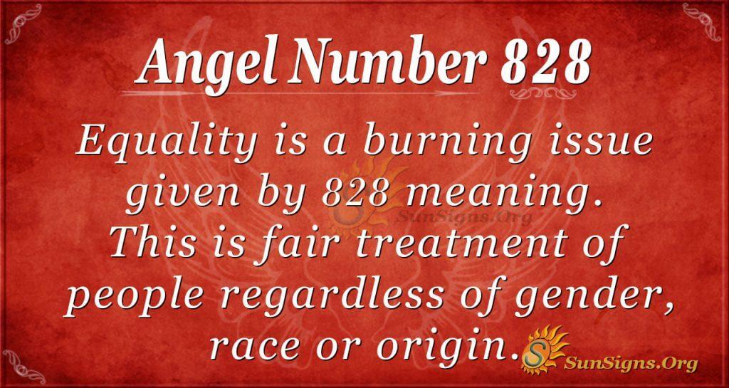 angel number 828
