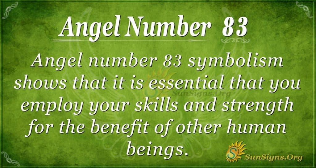 Angel Number 83