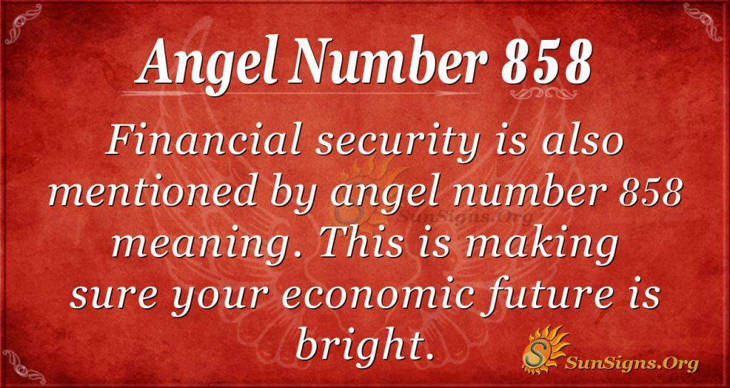 angel number 858