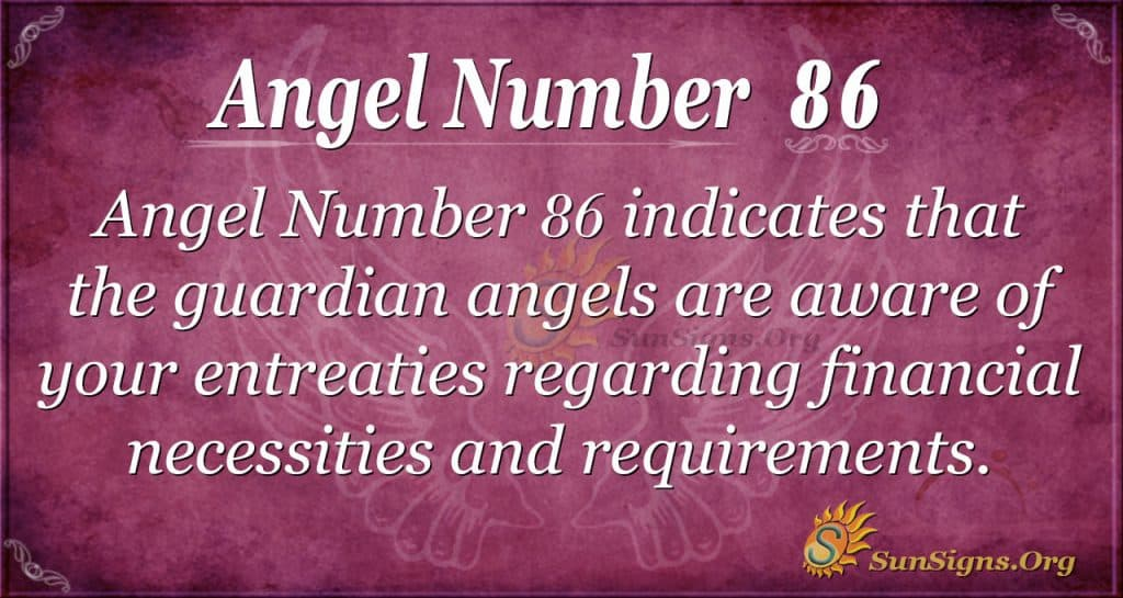 Angel Number 86