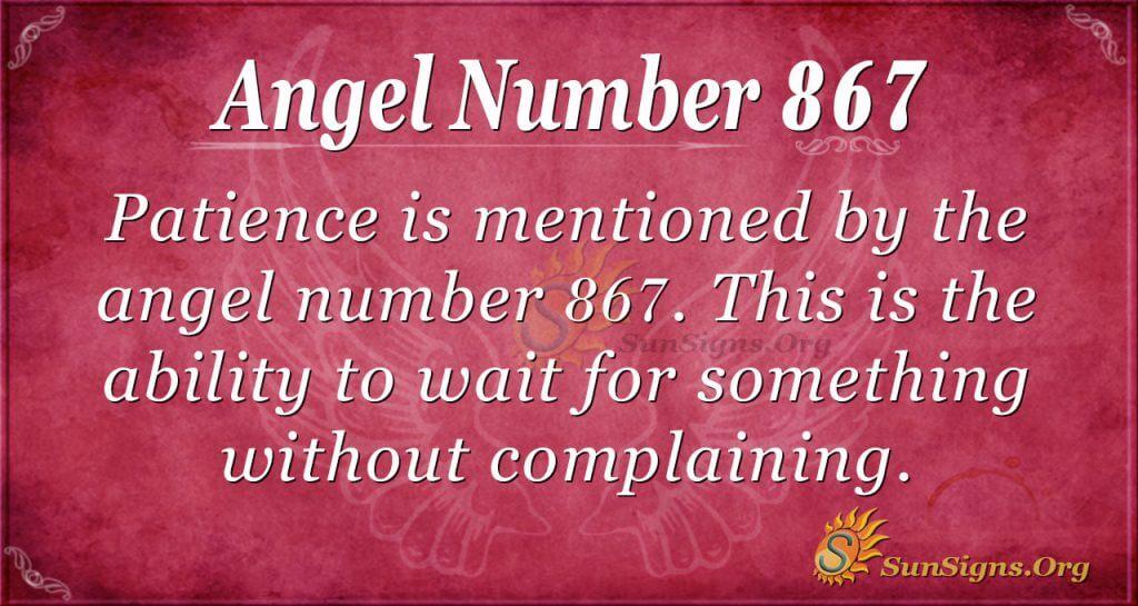 angel number 867