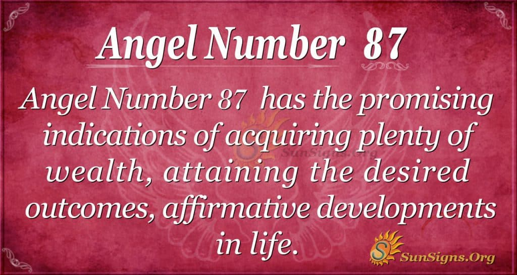 Angel Number 87