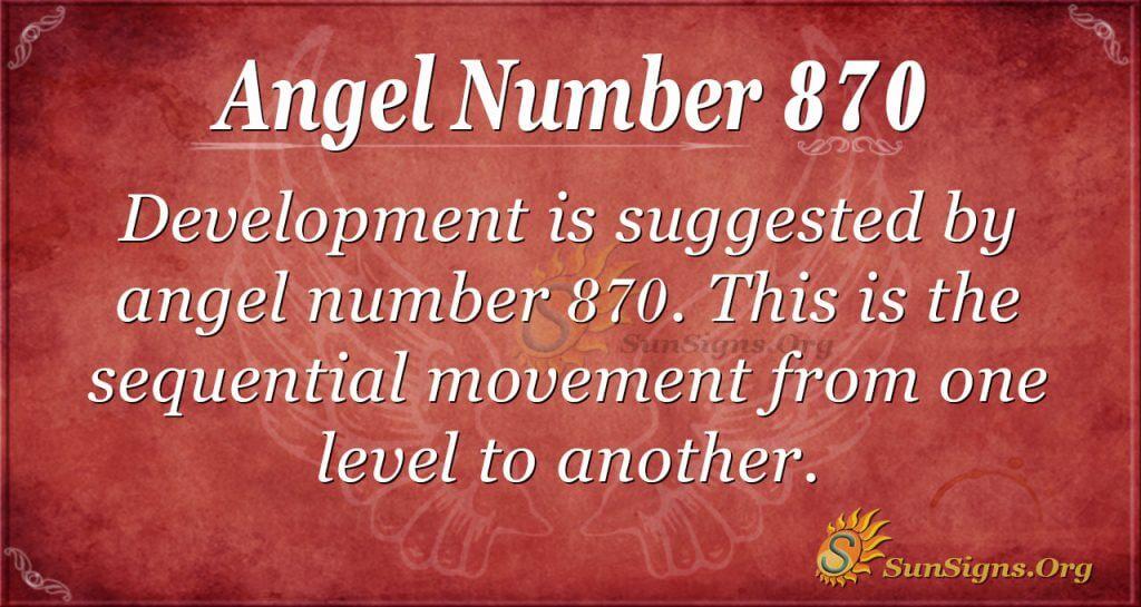 angel number 870