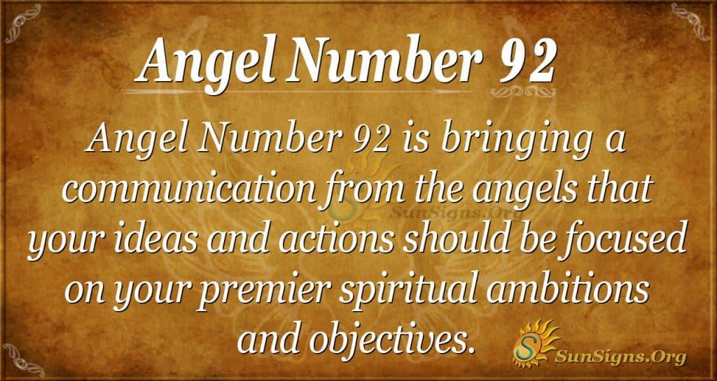 Angel Number 92