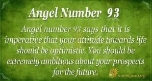 Angel Number 93