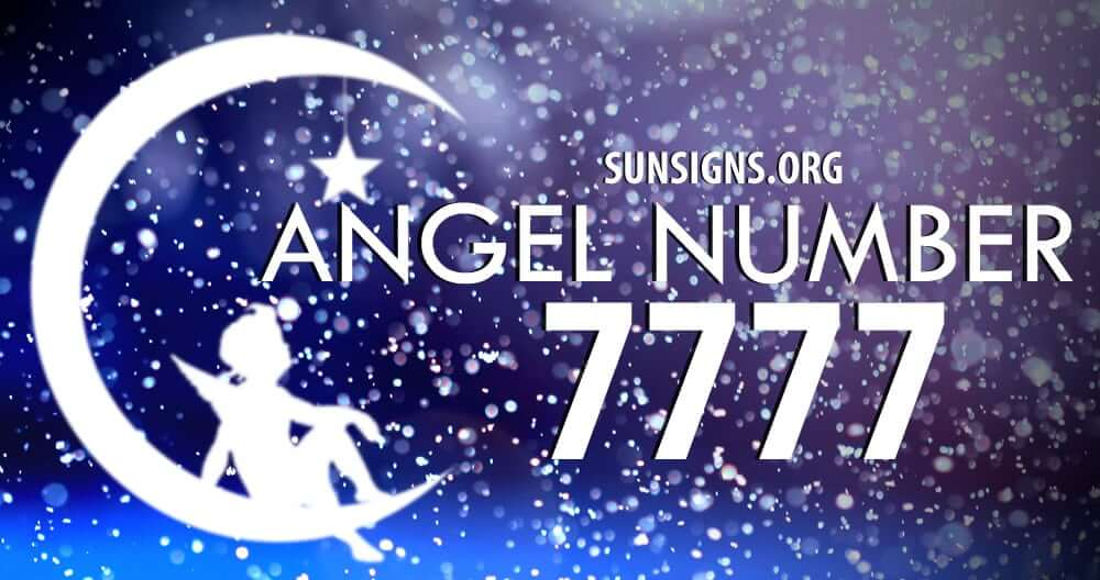 angel number 7777 meaning sun signs