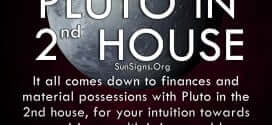 The pluto in second house