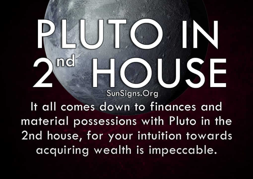 Pluto in the 2nd house signifies finances