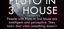 The pluto in third house