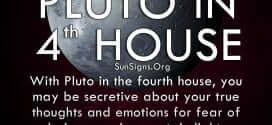 The pluto in fourth house