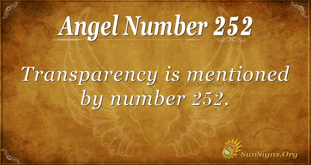 Angel Number 252