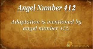 Angel Number 412
