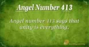 Angel Number 413