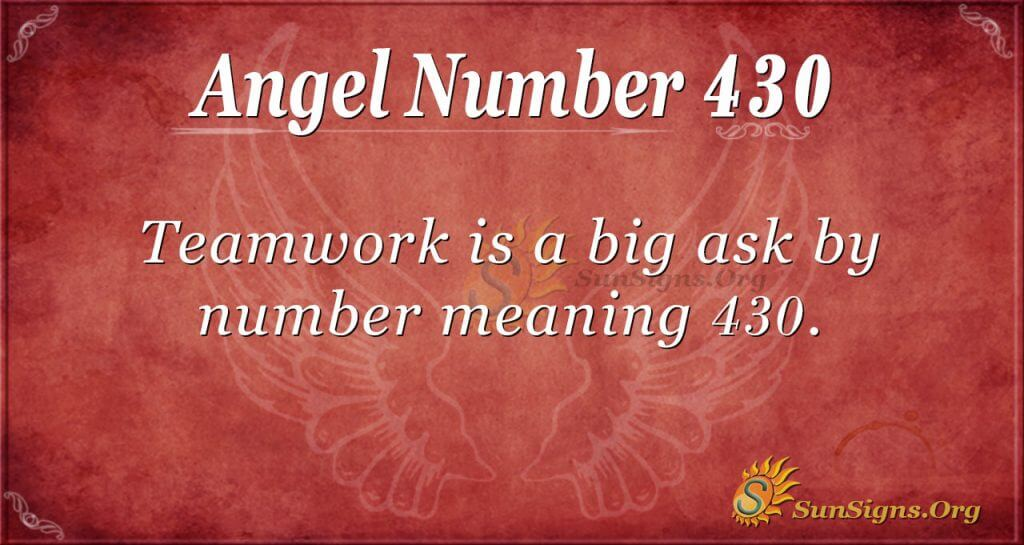 Angel Number 430