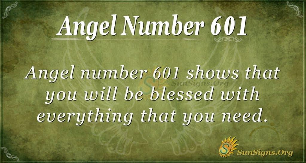 angel number 601