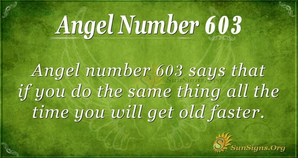 angel number 603