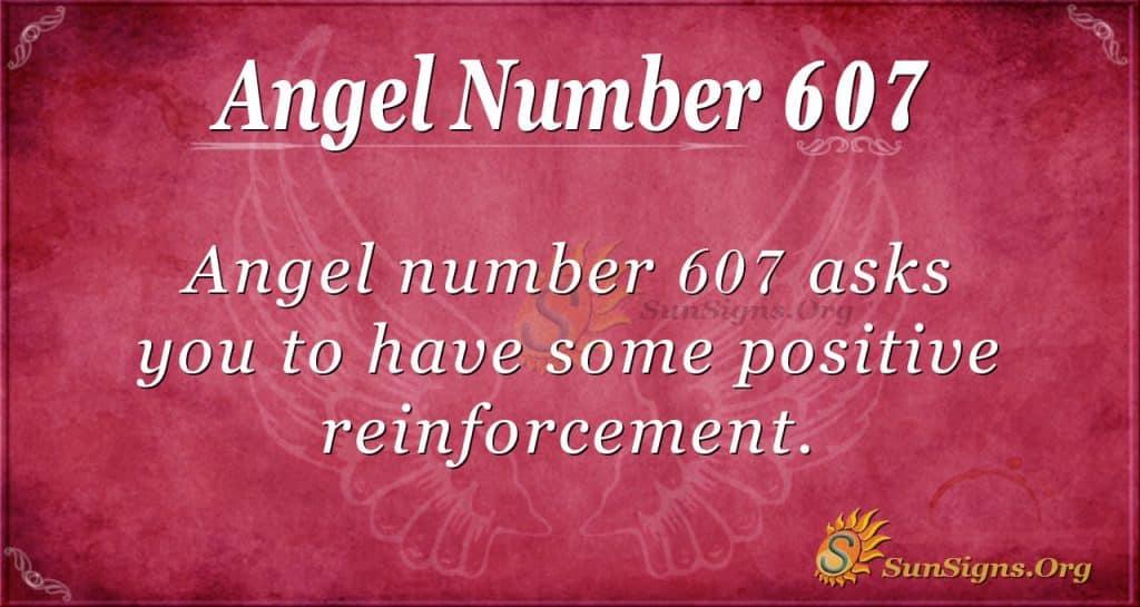 angel number 607