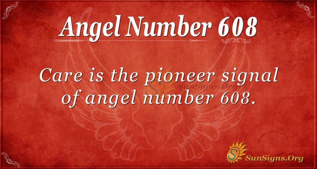angel number 608