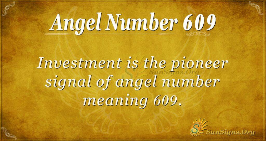 angel number 609